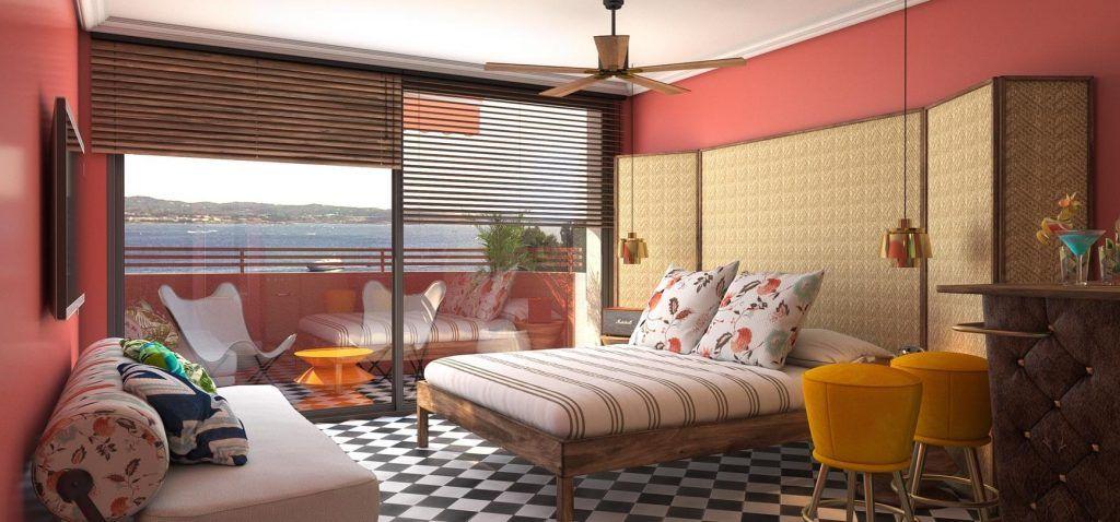Habitación Hotel Cubanito en Ibiza